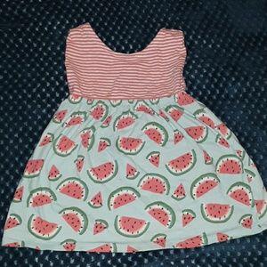Gymboree Striped/Watermelon print sleeveless dress